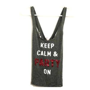 Tops - Victoria's Secret Keep Calm & Party On Tank Top